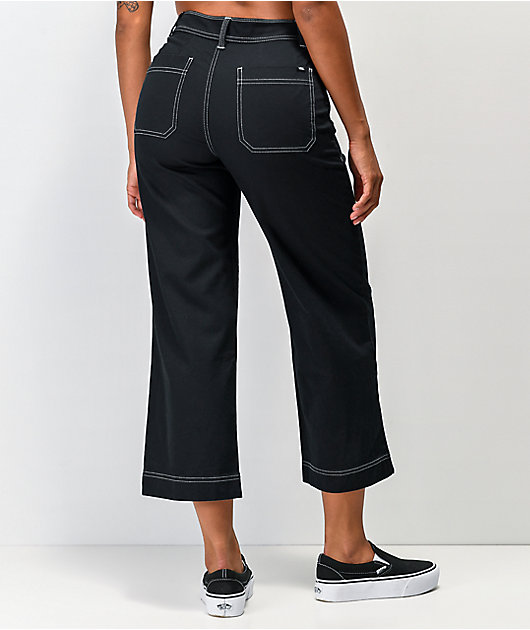Vans In The Know Black Wide Leg Pants