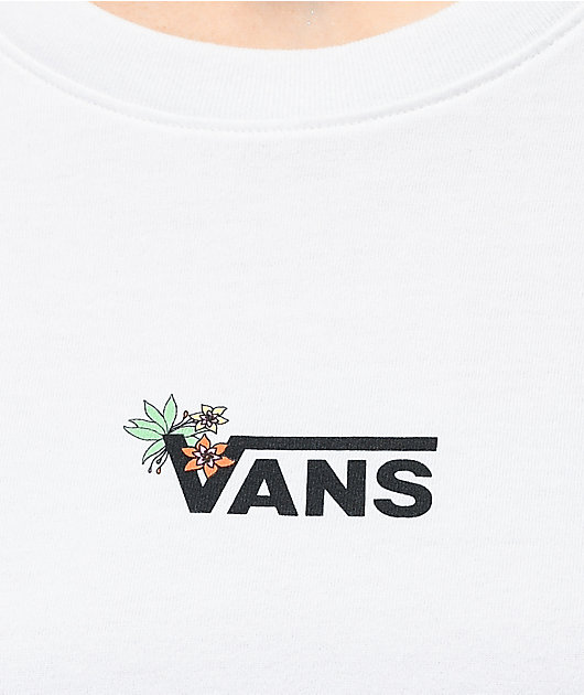 Vans Jefferspin White Long Sleeve T-Shirt