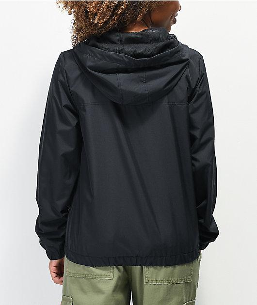 Vans Kastle chaqueta cortavientos negra y blanca