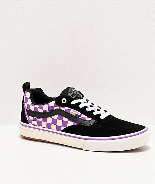 Vans Kyle Walker Pro Black & Dewberry Checkerboard Skate Shoes