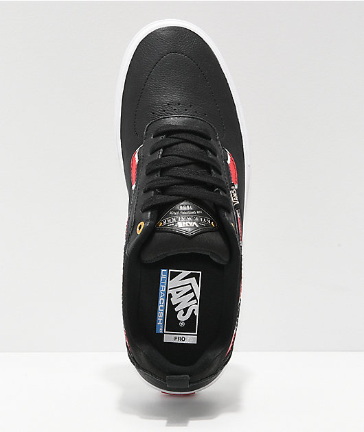 Vans Kyle Walker Pro Coral Snake & Black Leather Skate Shoes