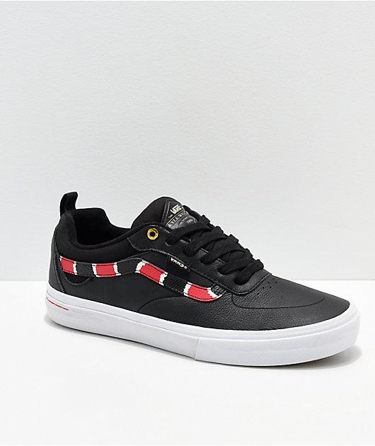 Vans Kyle Walker Pro Coral Snake zapatos skate de cuero negro