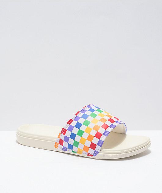 Vans La Costa Rainbow Slide Sandals