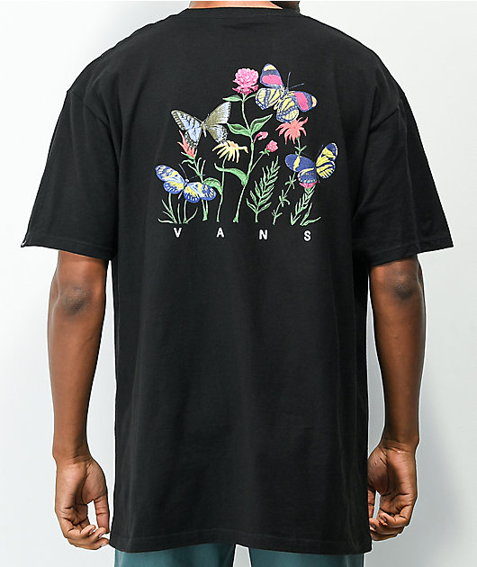 Vans May Flowers Black T-Shirt