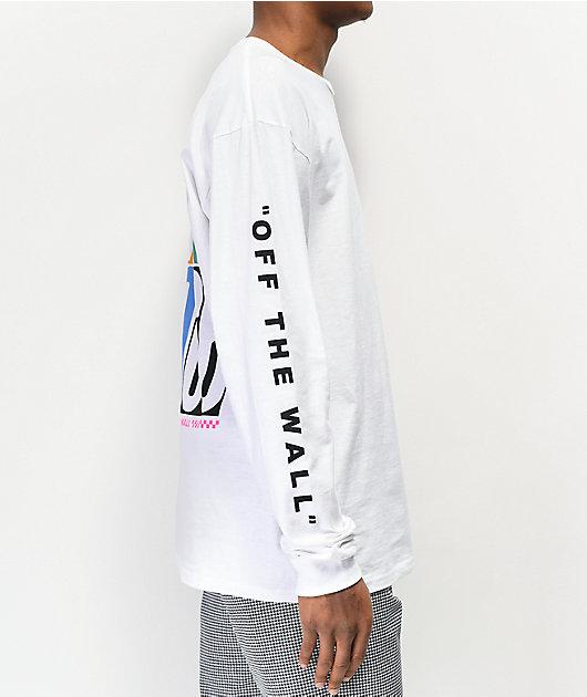 Vans Multi Check Stack White Long Sleeve T-Shirt