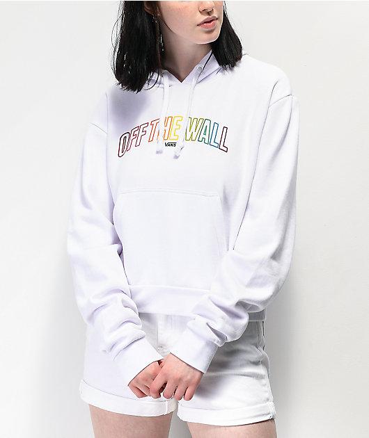 Vans Multicolor OTW sudadera con capucha corta blanca