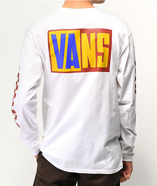 Vans OTW Rally Checkerboard & White Long Sleeve T-Shirt