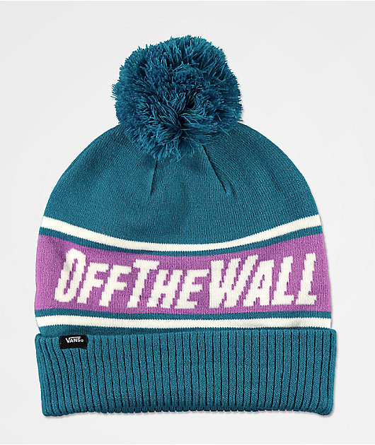 Vans Off The Wall Turquoise Pom Beanie