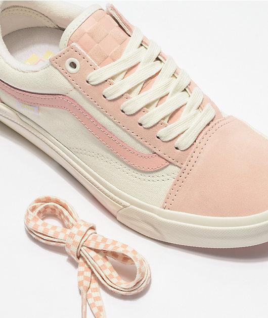 Vans Old Skool BMX Peach & Marshmallow Skate Shoes