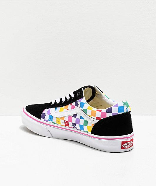 Vans Old Skool Black, Pink \u0026 Rainbow