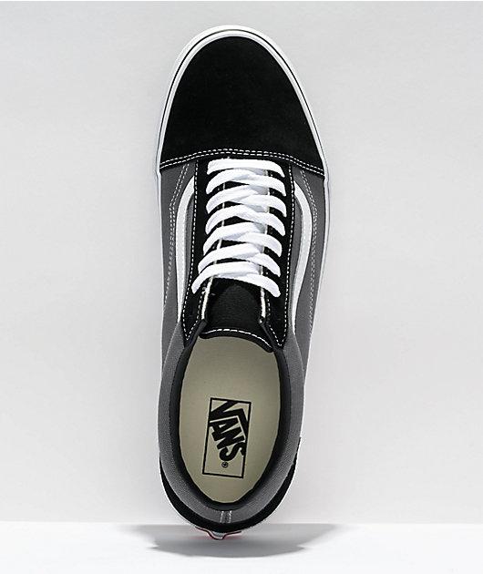 Vans Old Skool Black & Pewter Skate Shoes