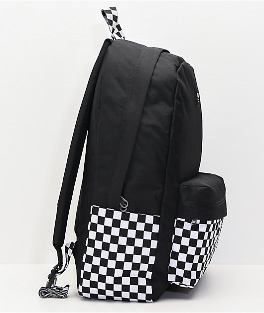 Vans Old Skool Black & White Checkerboard Backpack