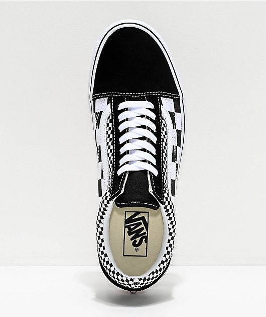 Vans Old Skool Black & White Mixed Checkerboard Skate Shoes