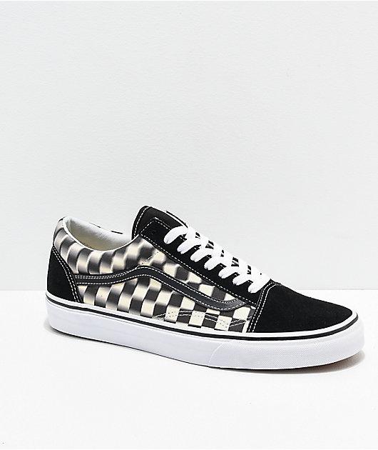Vans Old Skool Blur zapatos de skate de cuadros