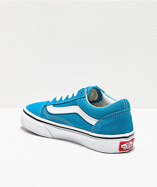 Vans Old Skool Caribbean Sea & True White Skate Shoes