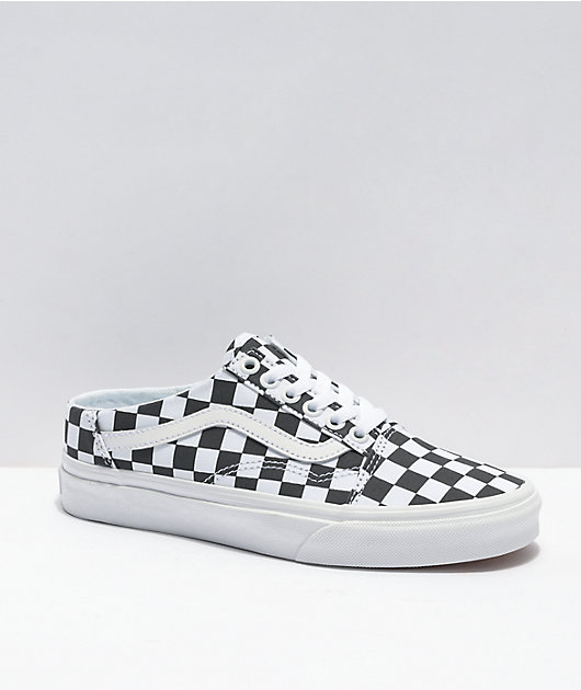 Vans Old Skool Checkerboard Mule Shoes