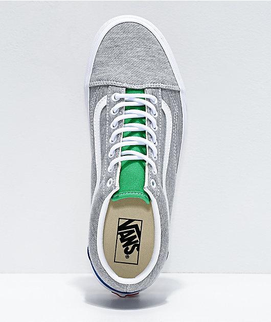 Vans Old Skool Coastal Grey & White Skate Shoes