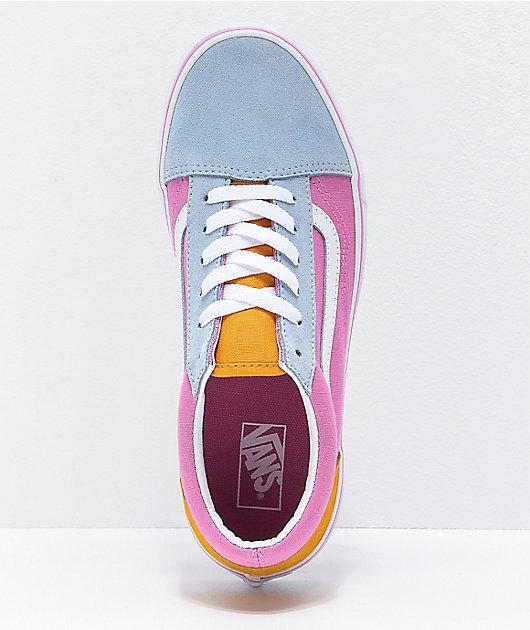 Dinamarca Inconcebible por favor confirmar  Vans Old Skool Colorblock zapatos de skate rosas, anaranjados y azules    Zumiez