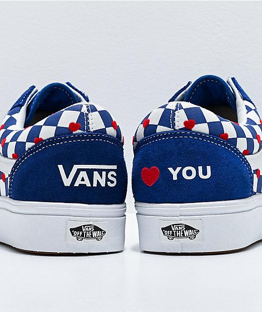 Vans Old Skool ComfyCush Autism Heart & Checkerboard Skate Shoes