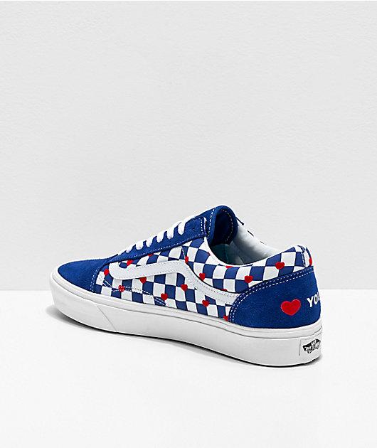 Vans Old Skool ComfyCush Autism Heart zapatos de skate de cuadros
