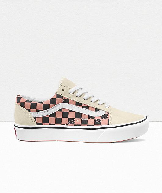 Vans Old Skool ComfyCush Mix Media White Skate Shoes