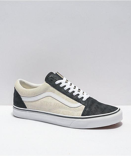 Vans Old Skool Deboss OTW Black & White Skate Shoes