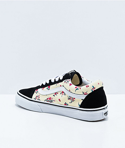 Vans Old Skool Ditsy Floral & White Skate Shoes