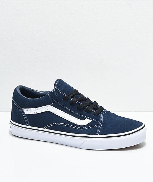 Vans Old Skool Dress Blue Suede Skate