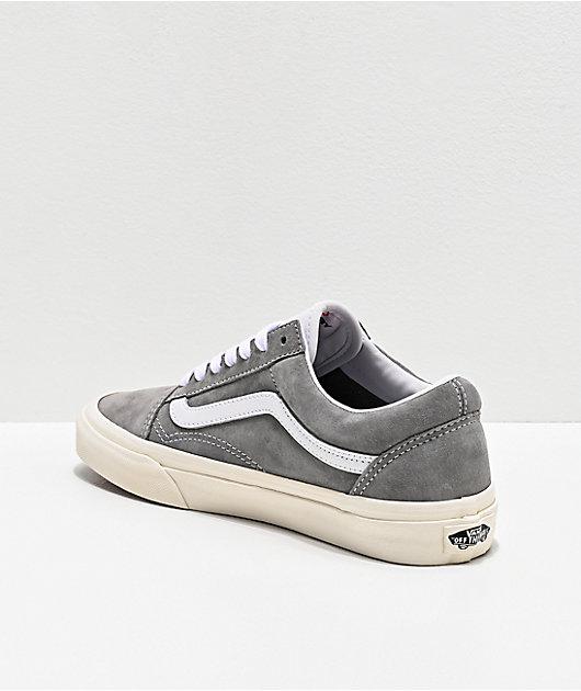 Vans Old Skool Drizzle Grey & Snow White Skate Shoes