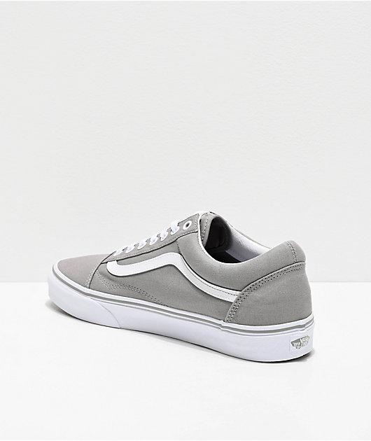 Vans Old Skool Drizzle Grey & White Skate Shoes