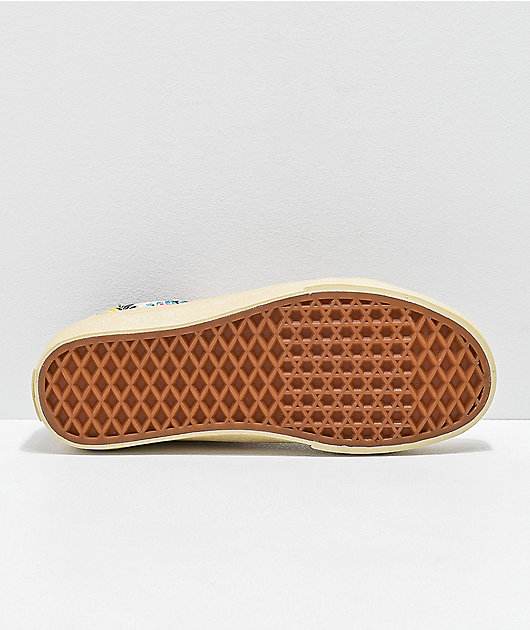 Vans Old Skool Festival Satin Gold Skate Shoes