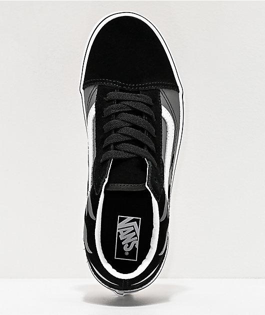 Vans Old Skool Flame Black Skate Shoes
