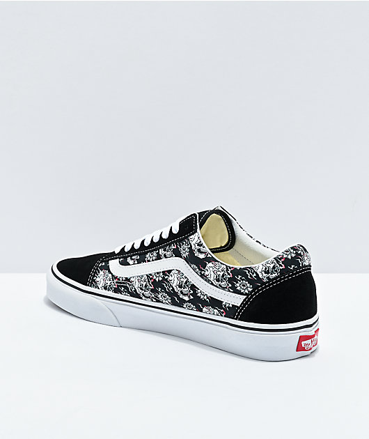 Vans Old Skool Flash Skulls Black & Multi Skate Shoes