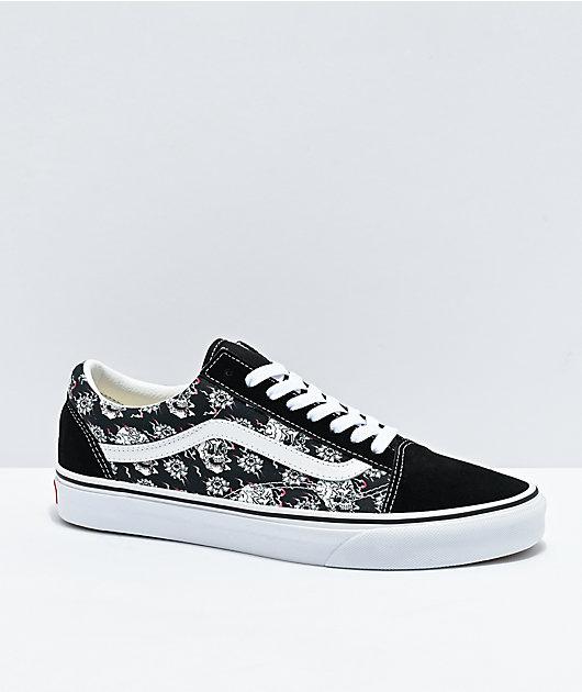 Vans Old Skool Flash Skulls zapatos de skate negros
