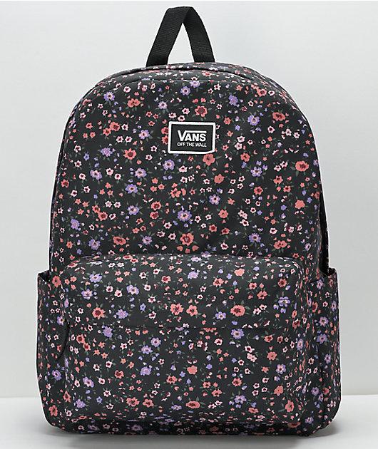 Vans Old Skool Floral Black Backpack