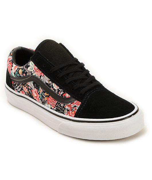 Vans Old Skool Floral Shoes | Zumiez