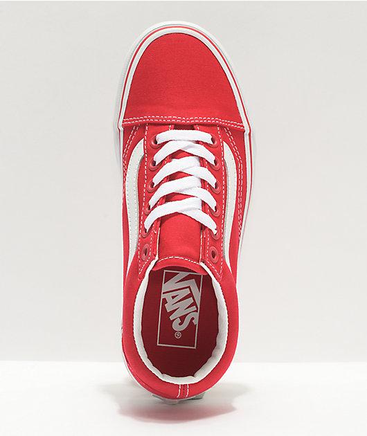 Vans Old Skool Formula Red & White Canvas Skate Shoes