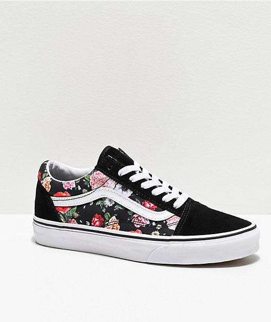 Vans Old Skool Garden zapatos de skate florales y negros
