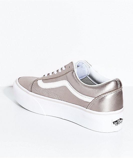 Vans Old Skool Gray Gold \u0026 True White