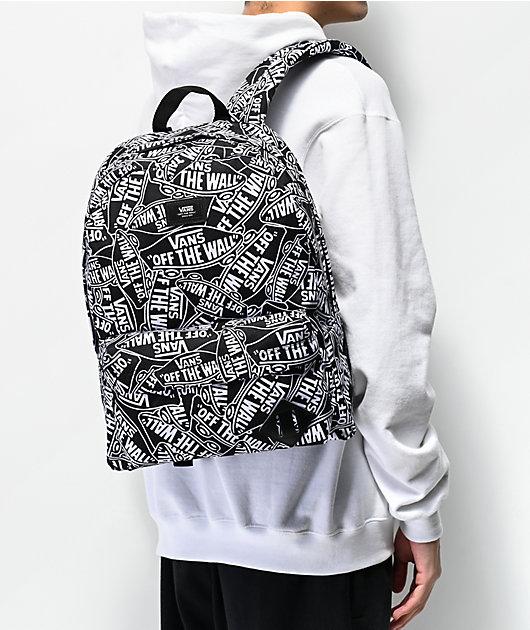 Vans Old Skool III Off The Wall Black & White Backpack