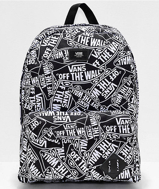 Acurrucarse Supervisar Volverse loco  Vans Old Skool III Off The Wall Black & White Backpack | Zumiez