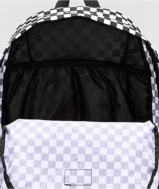 Vans Old Skool III mochila negra y blanca de cuadros