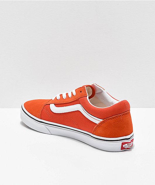 Vans Old Skool Koi Orange & White Skate Shoes