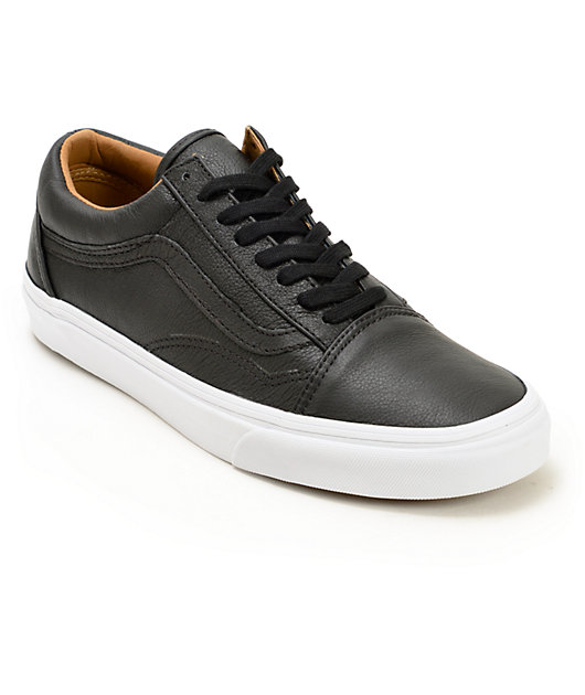 Vans Old Skool Leather Skate Shoes   Zumiez