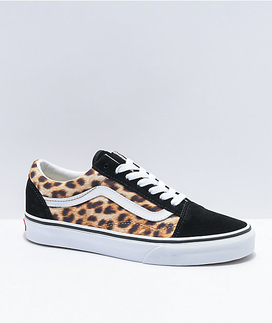 Vans Old Skool Leopard & Black Skate Shoes