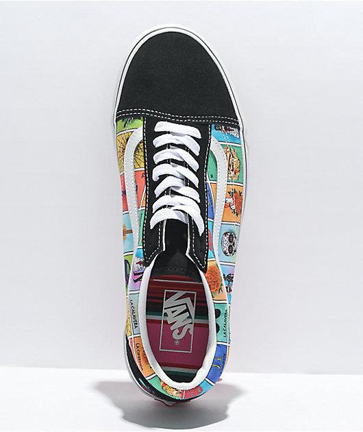 Vans Old Skool Loteria Multi, True White Skate Shoes