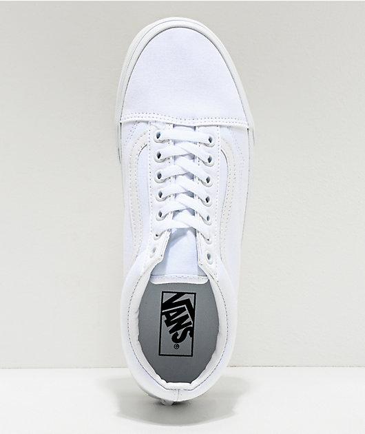 Vans Old Skool Mono White Skate Shoes