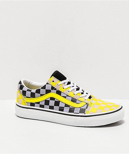 Vans Old Skool Multi Checkerboard Skate Shoes