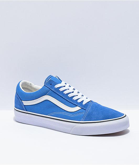 Vans Old Skool Nebula Blue & White Skate Shoes