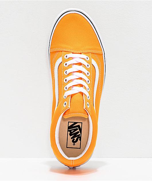 Vans Old Skool Neon Blaze Orange & White Skate Shoes